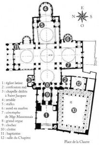 Plan intérieur de la cathédrale Saint-Front de Périgueux